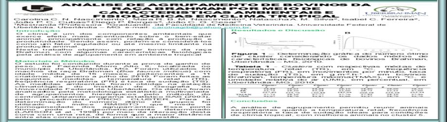 Análise de Agrupamento de Bovinos da Raça Brahman Por Meio de Características Ambientais e Fisiológicas Em Clima Tropical