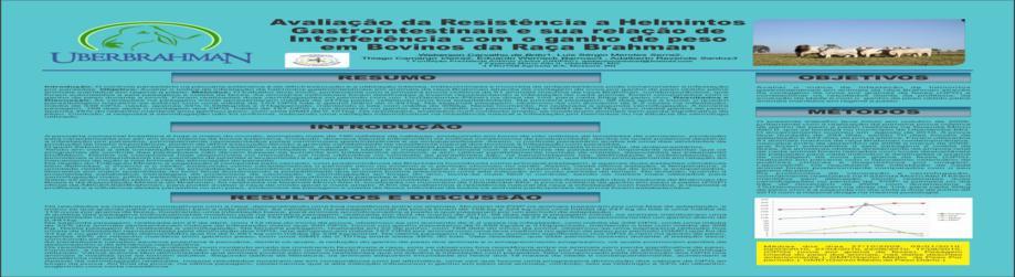 Avaliação da Resistência a Helmintos Gastrointestinais e Sua Relação de Interferência Com o Ganho Em Peso Em Bovinos da Raça Brahman