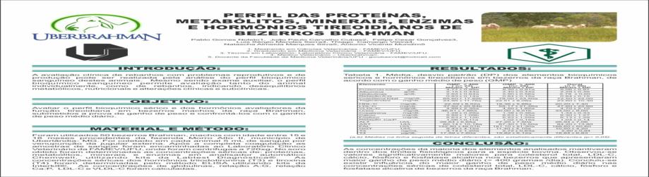 Perfil das Proteínas, Metabólitos, Minerais, Enzimas e Hormônios Tireoidianos de Bezerros Brahman